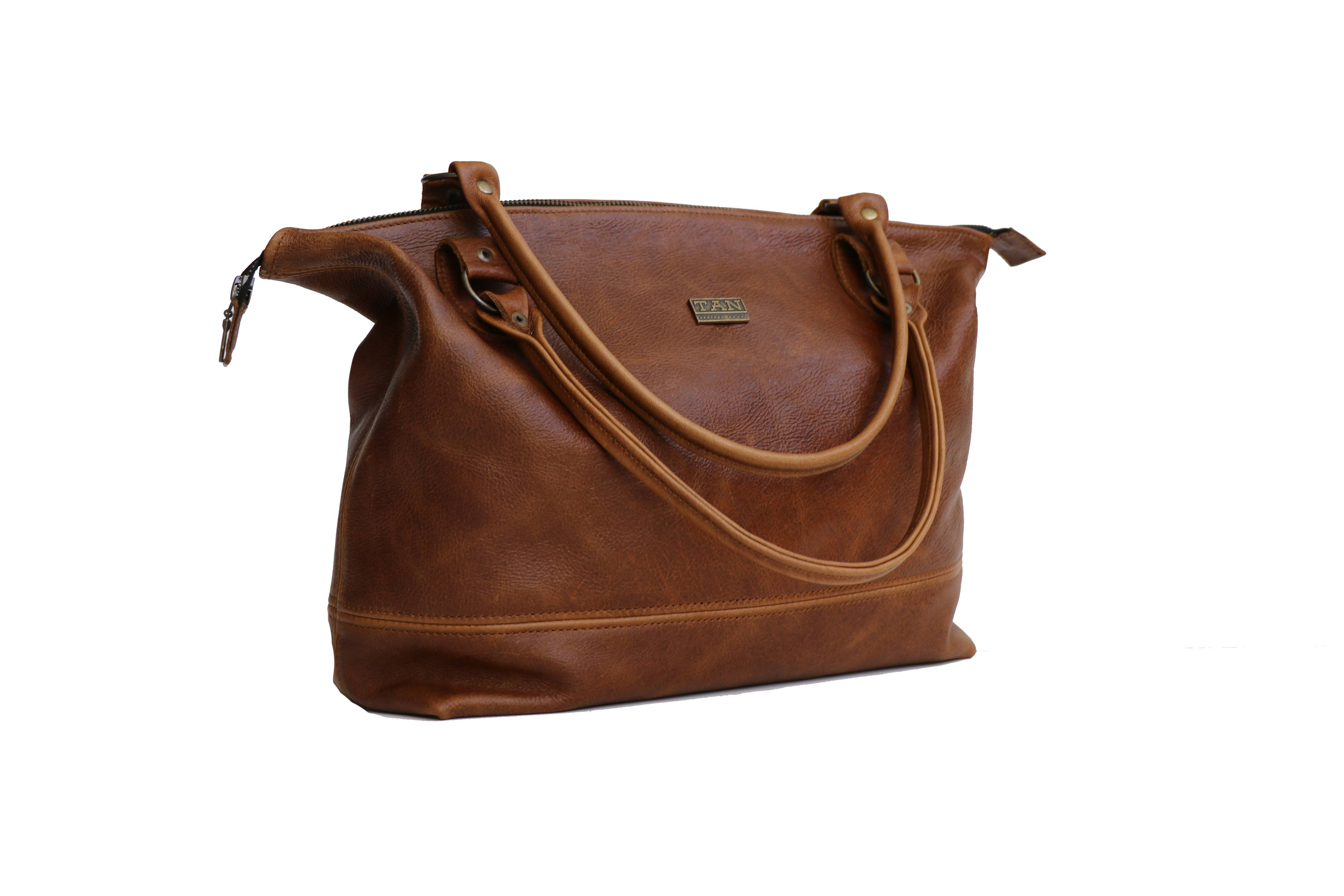 Daisy Leather Handbag Pecan