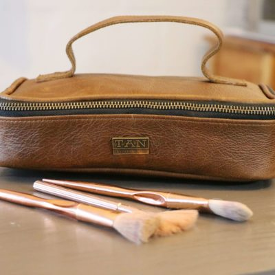 Ruby Leather Make-up Bag