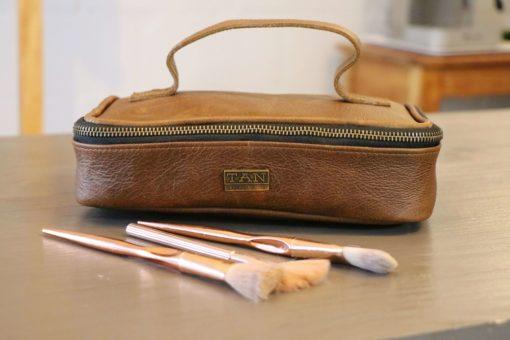 Ruby Leather Make-up Bag